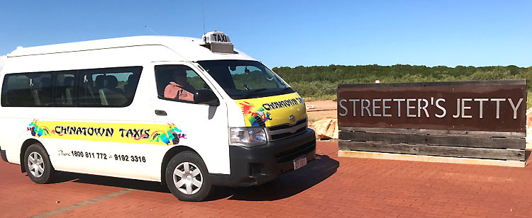 Take a taxi to Streeter's Jetty, Broome